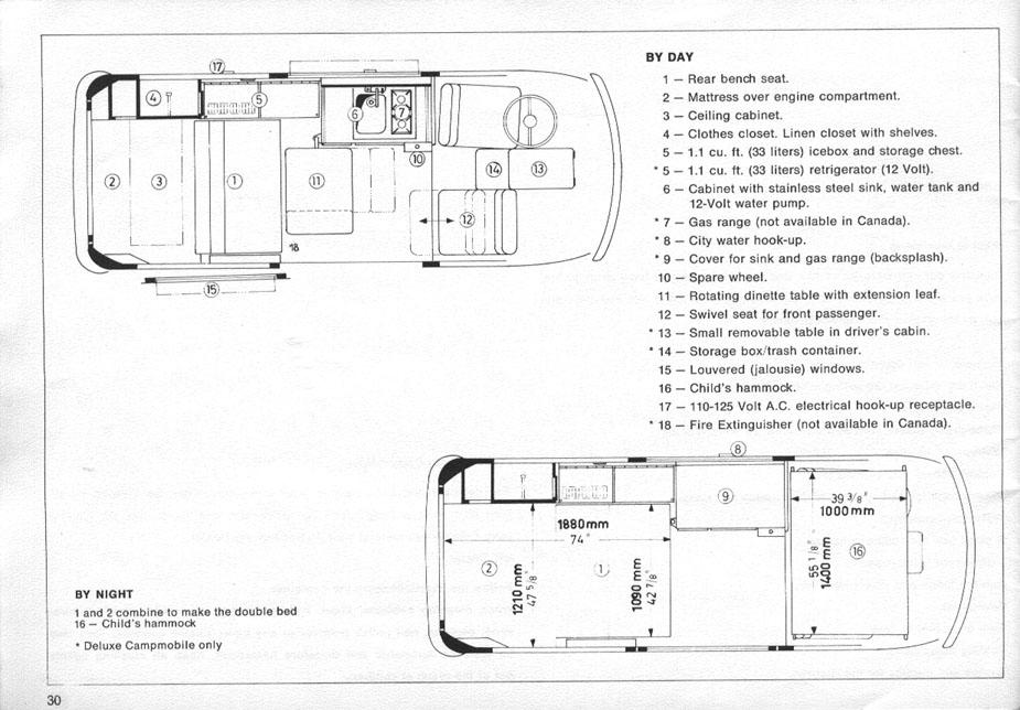 Vw Type 2 Interior Plans