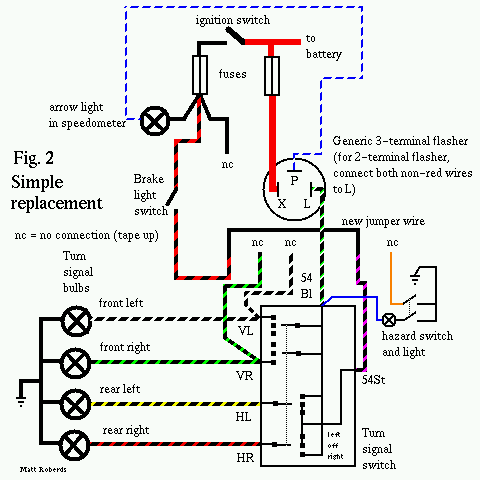 vw 9 prong box troubleshooting and replacement vw turn signal wiring diagram emergency flasher wiring diagram #13