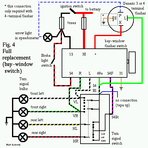 vw 9prong fig4 3 way flasher wiring diagrams wiring diagram data